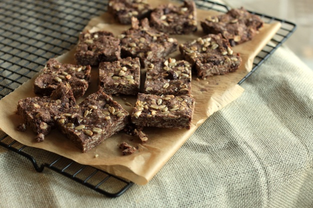double chocolate mocha oat squares